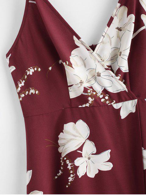ZAFUL Vestido Maxi de Fenda - Vinho Tinto M Mobile