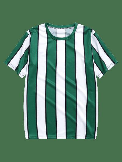 Color Block Striped Print T-shirt