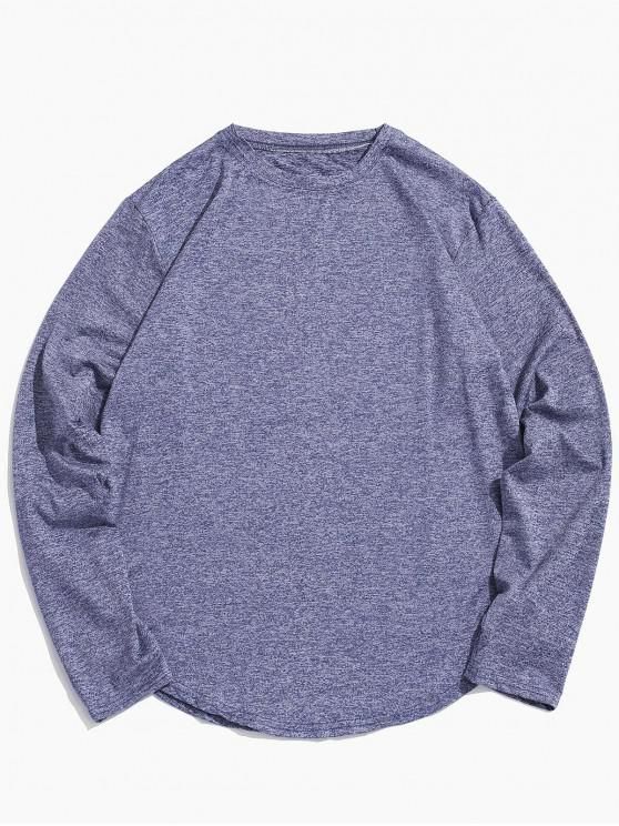 online Casual Round Neck Full Sleeves T-shirt - PASTEL BLUE XL