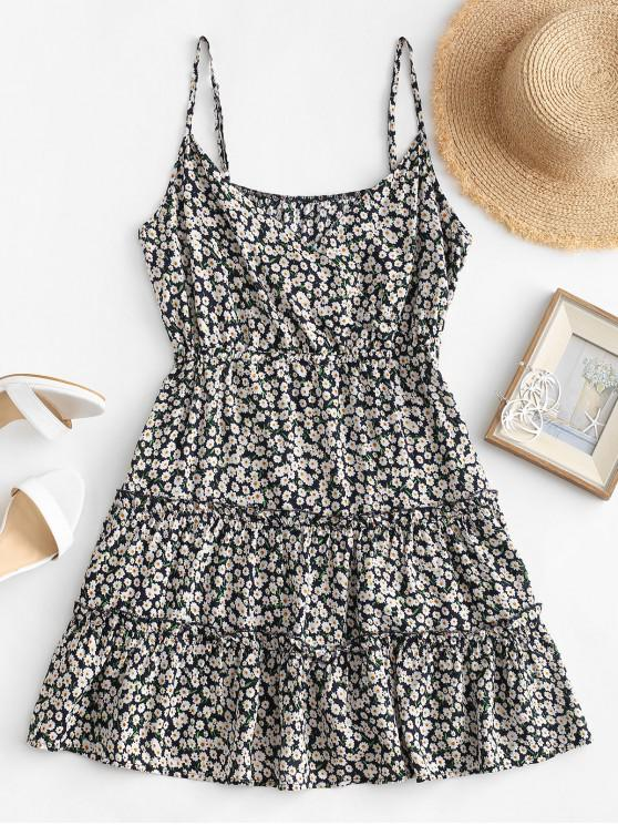 Мини-Платье С цветочным принтом Ками - Синий M