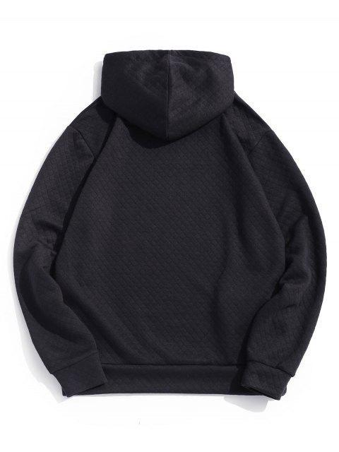 純色抽繩休閒帽衫 - 黑色 XS Mobile