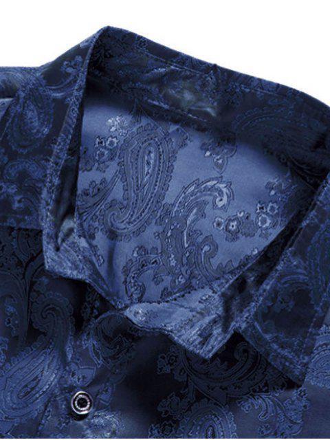 Botón de la camisa de impresión de tótem - Cadetblue S Mobile