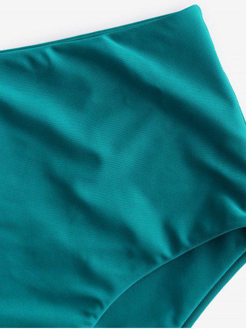 ZAFUL Bas de Bikini Simple à Taille Haute - Turquoise Foncée L Mobile