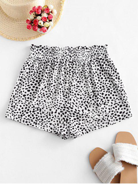 women's ZAFUL Ribbed Animal Print Swim Bottom - LEOPARD S Mobile