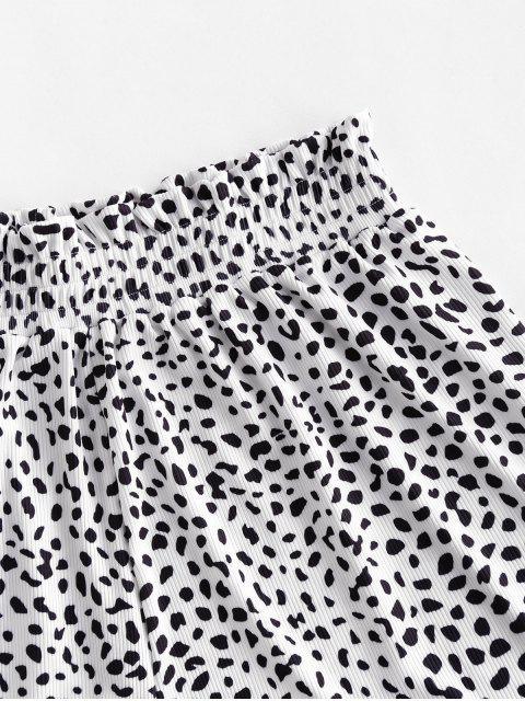 ZAFUL Bikiniunterteil mit Geripptem Tierdruck - Leopard S Mobile
