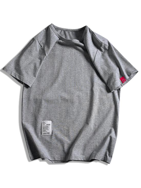 Short Sleeve Solid Applique T-shirt фото