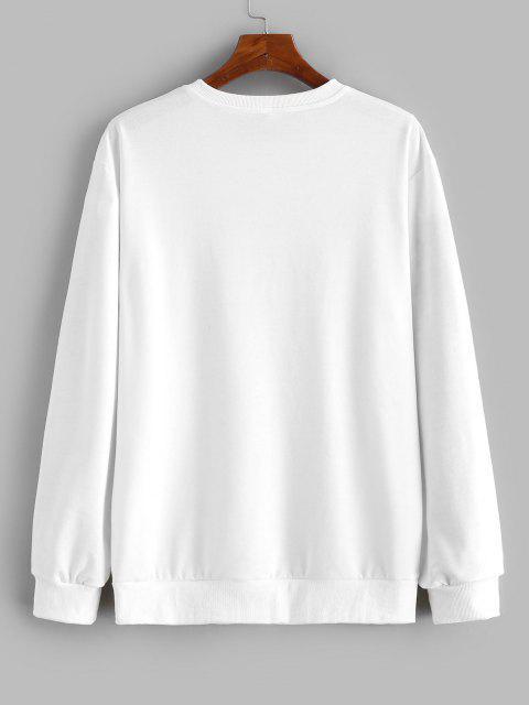 Sweat-shirt Peinture Zèbre Imprimé - Blanc 2XL Mobile