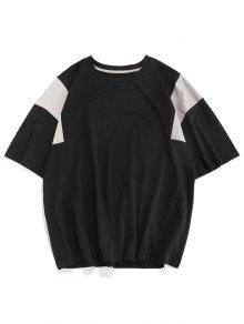 Round Neck Colorblock Spliced T shirt