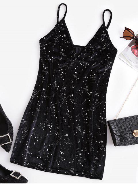 ZAFUL Vestido Brillantes de Fiesta de Estrella - Negro L Mobile