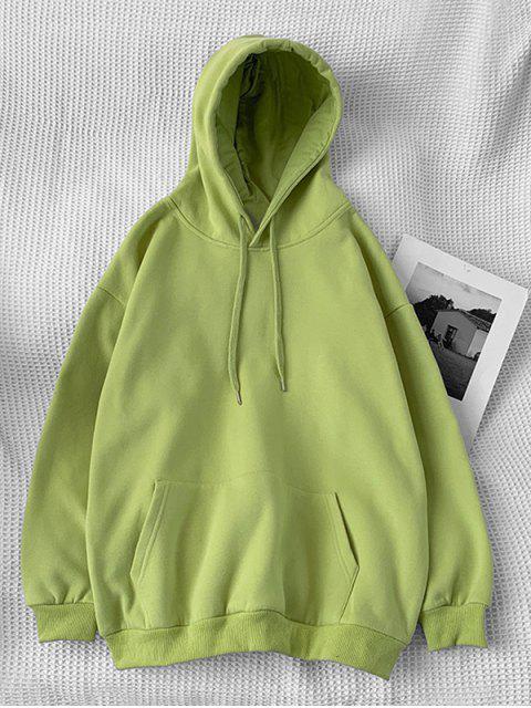 Sudadera con Capucha Casual con Bolsillo y Estampado de Letras - Verde de Pistacho 2XL Mobile