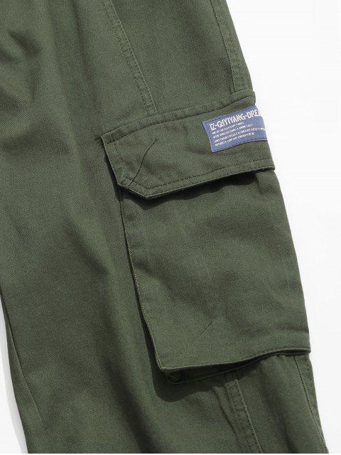 Jogger Pantalones de Cargo de Cordón - Verde XL Mobile