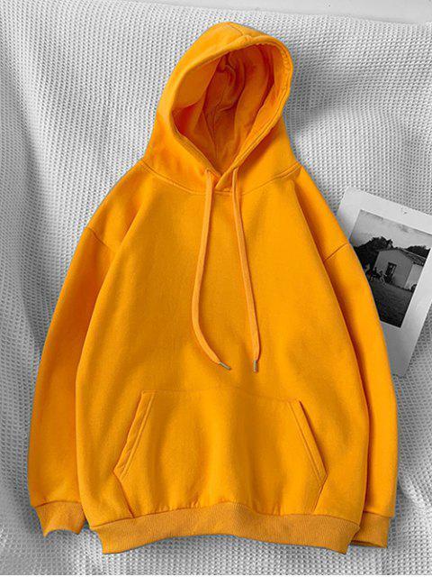 信打印囊袋狀休閒連帽衫 - 藏紅花 3XL Mobile