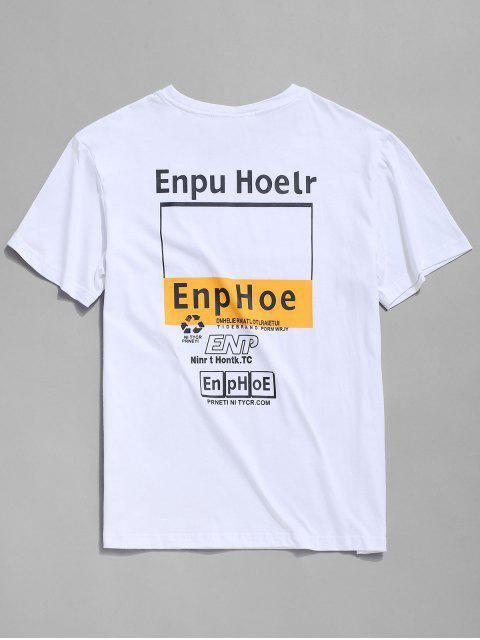 buy Letter Graphic Print Short Sleeve T-shirt - WHITE XL Mobile