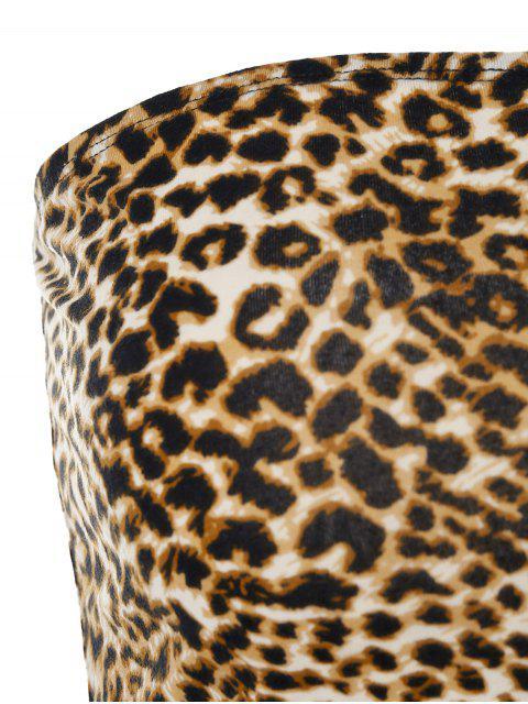 Top a Fascia Asimmetrica di ZAFUL con Stampa Leopardata - Leopardo S Mobile