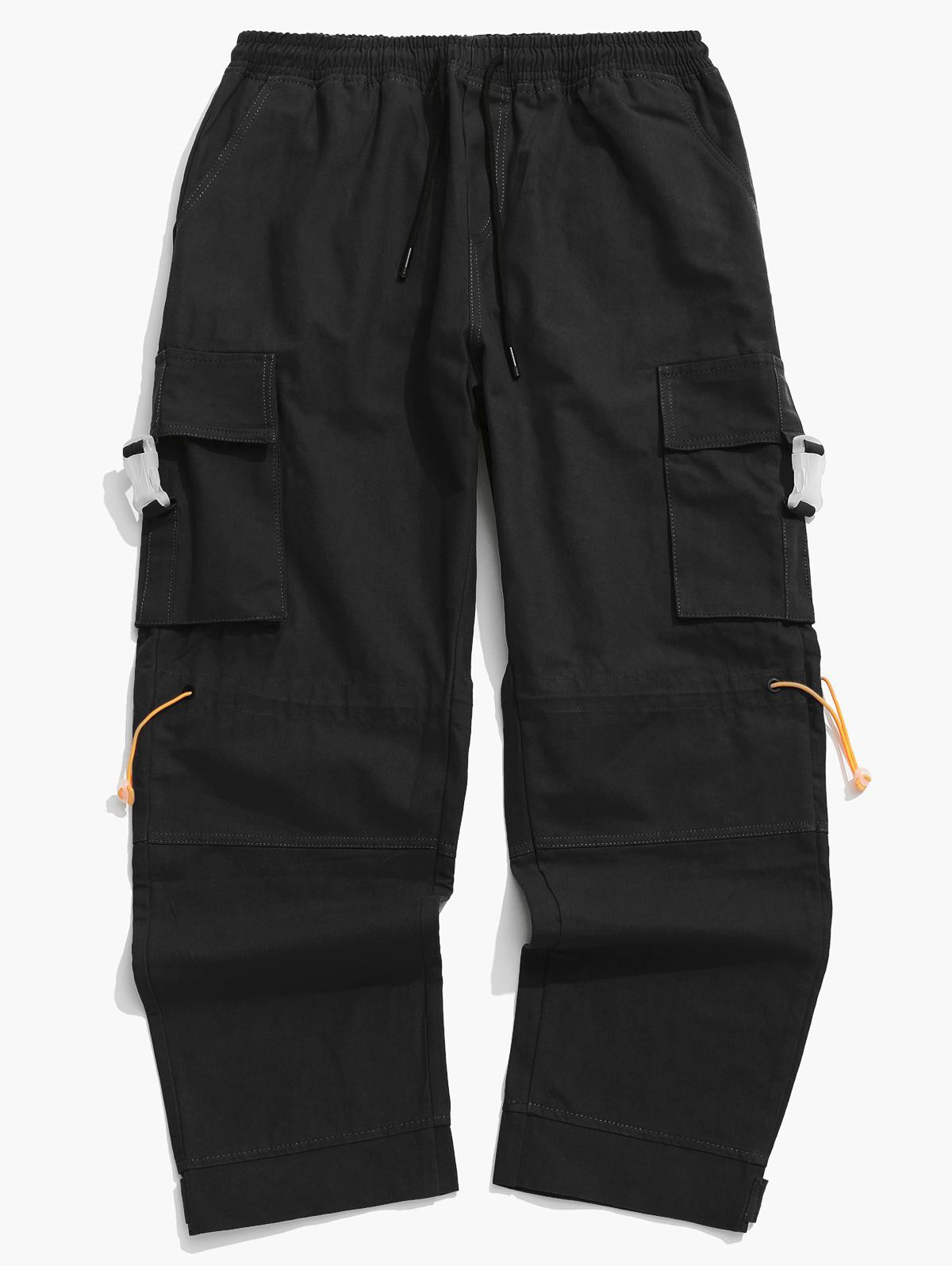 Side Buckle Flap Pocket Toggle Cargo Pants фото