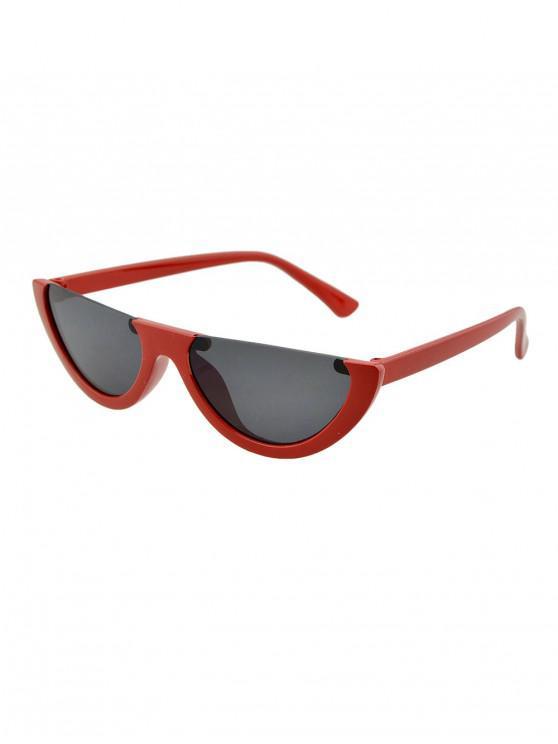 Gafas de Sol Semi-dye Punk - Castaño Rojo