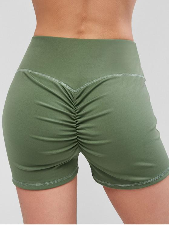 ladies Sport Scrunch Butt Shorts - LIGHT GREEN S