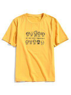 ZAFULT-shirtPortraitHommeImpriméàManchesLongues - Jaune Clair Xl