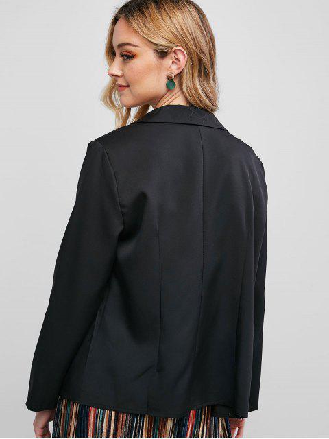 Blazer Casual con Bolsillos Solapa - Negro S Mobile