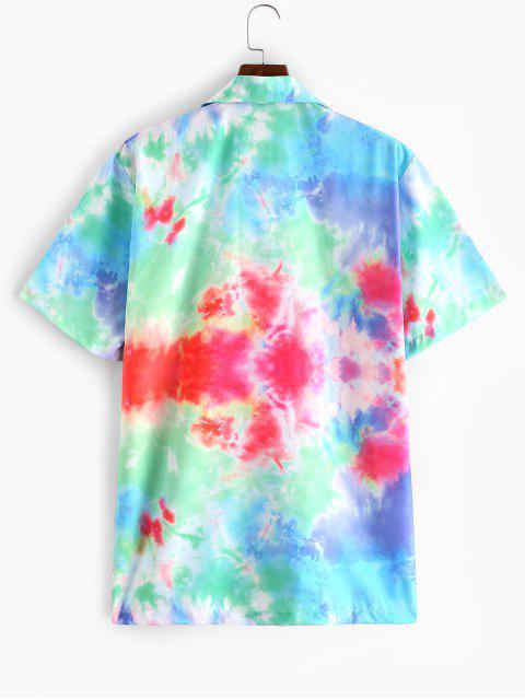 Camisa Teñida Manga Larga - Multicolor-A 2XL Mobile