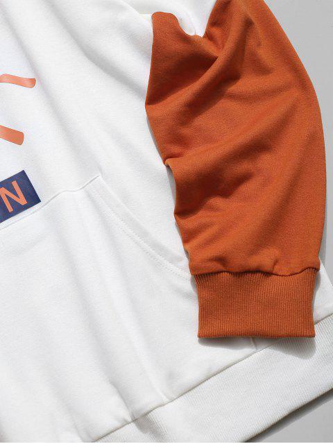 信太陽紋小袋連帽衫 - 白色 XL Mobile