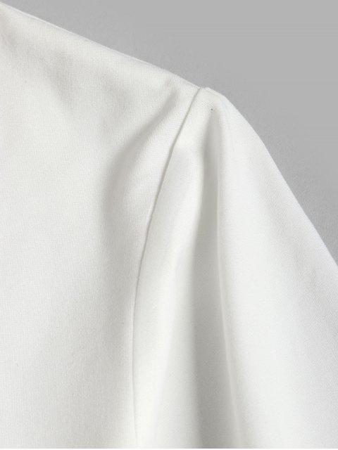 T-shirtdeBase Graphique Géométrique - Blanc M Mobile