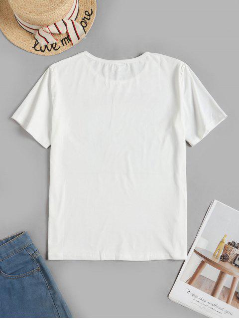 T-shirtdeBaseGraphique en Avant - Blanc 2XL Mobile
