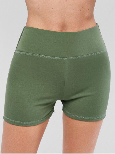 fancy Sport Scrunch Butt Shorts - LIGHT GREEN L Mobile