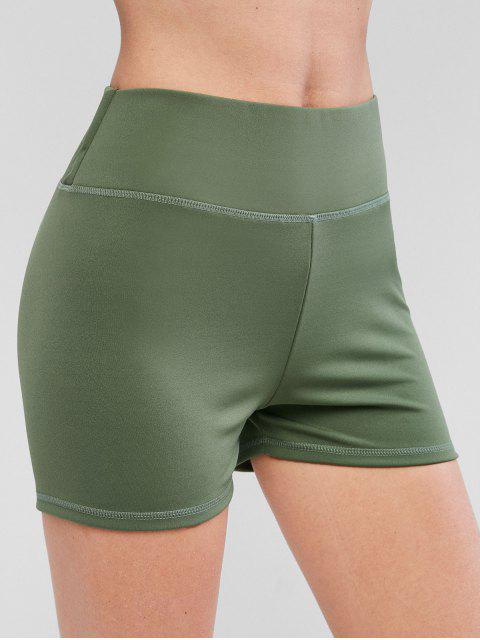 ladies Sport Scrunch Butt Shorts - LIGHT GREEN S Mobile
