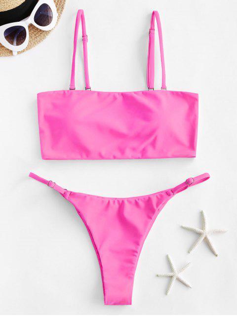 ZAFUL Bikini a Fascia Al Neon - Rosa chiaro S Mobile