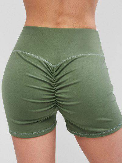 Sport Scrunch Hintern Shorts - Hellgrün Xl