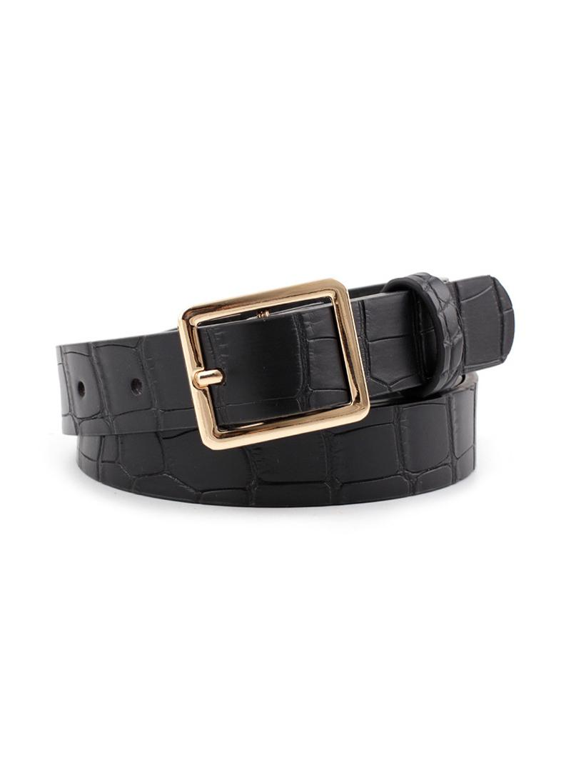 Textured Square Pin Buckle Belt