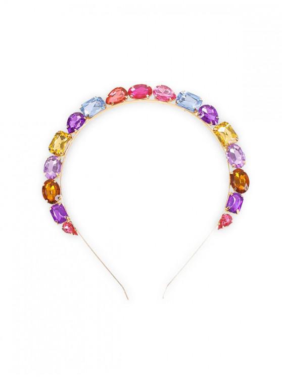 Banda de Cabello de Cristal de Imitación Geométrica - Multicolor