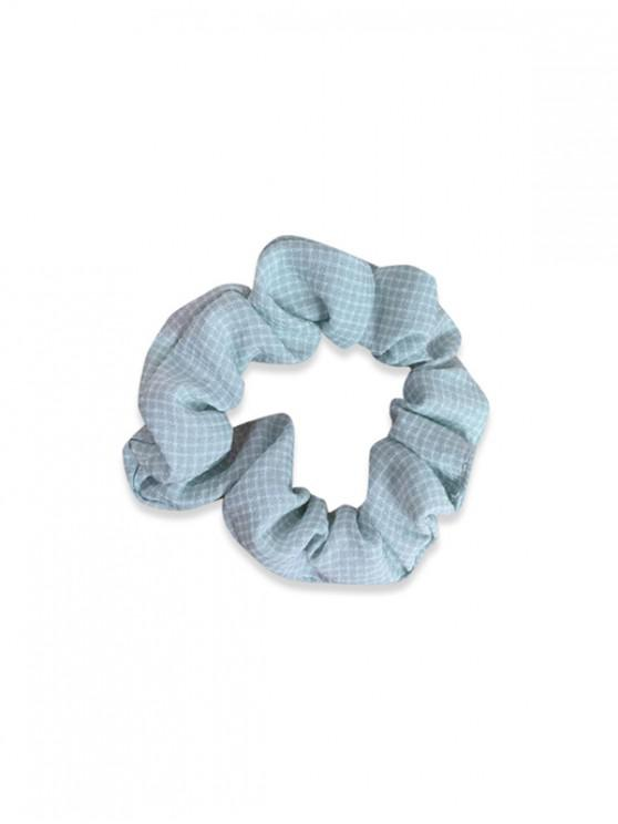 shops Plaid Printed Fabric Scrunchy - PALE BLUE LILY