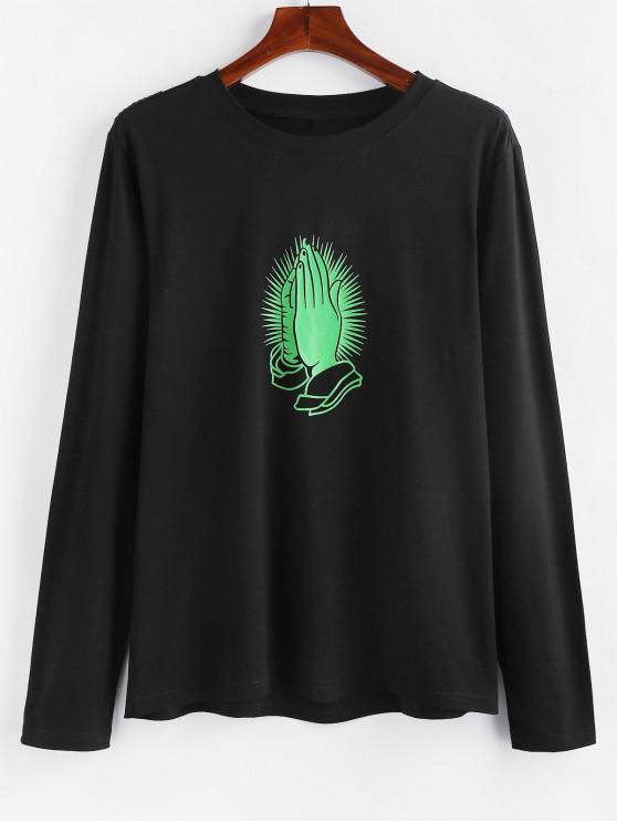 ZAFUL T-shirtMainImprimée à Manches Longues - Noir 2XL