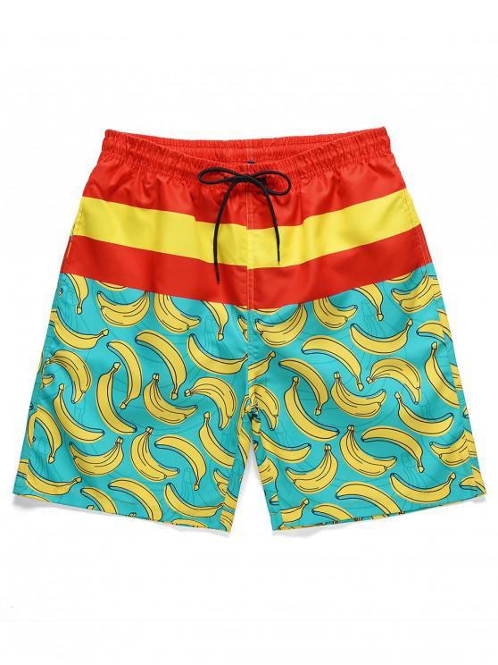 Banana Printed Casual Board Shorts - متعدد M