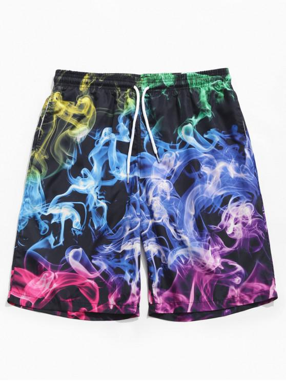 shop Aurora Color Print Board Shorts - MULTI 2XL