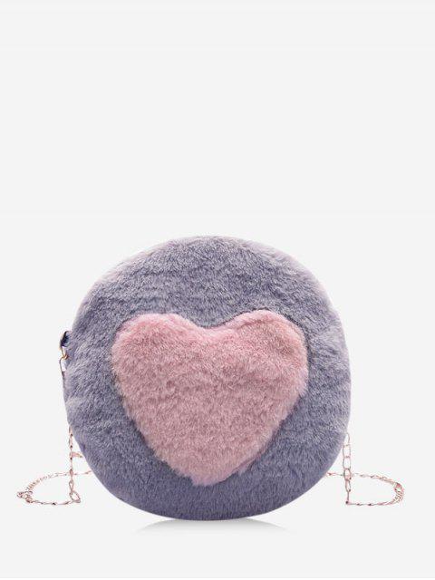 Bolso Cruzado Piel Sintética Corazón - Gris  Mobile