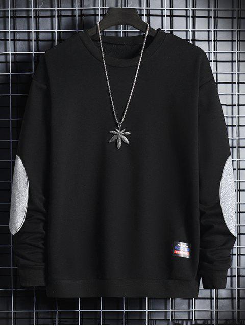 Sudadera Cuello Redondo Parche en Codo - Negro XL Mobile