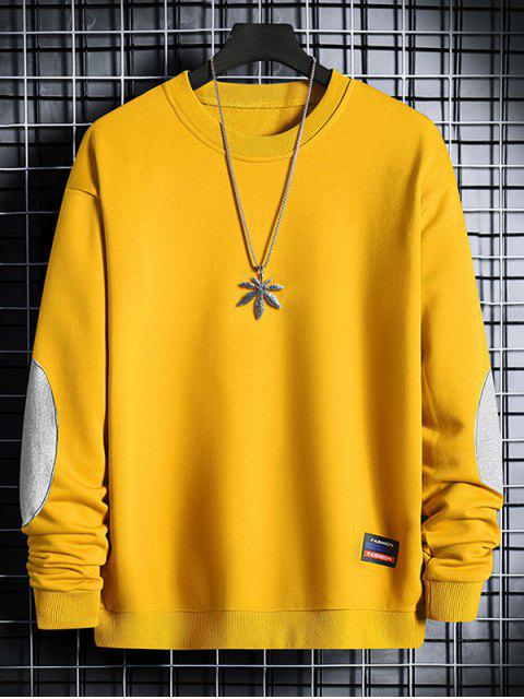 Sudadera Cuello Redondo Parche en Codo - Amarillo de Sol  XL Mobile