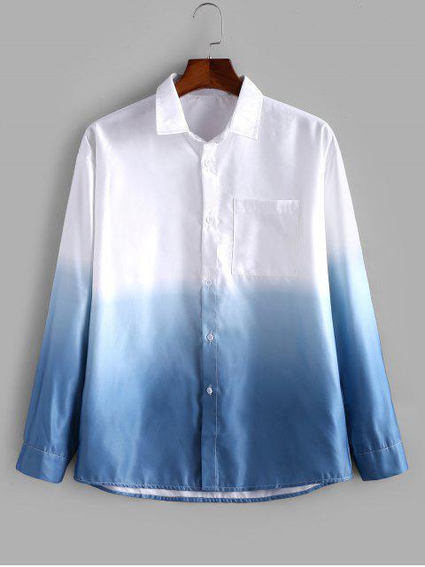 best Pocket Gradient Color Shirt - BABY BLUE M Mobile