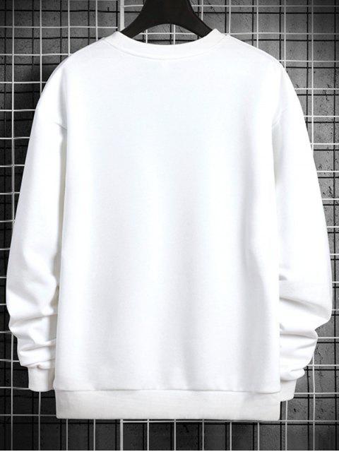 夜光直播信打印圓領運動衫 - 白色 XS Mobile