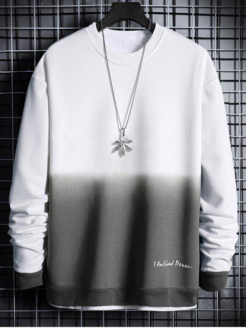 信打印Ombre的運動衫 - 白色 S Mobile