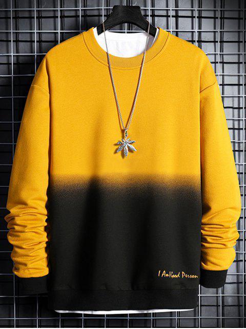 Sweatshirt Lettre Imprimée Ombré - Jaune Soleil XL Mobile