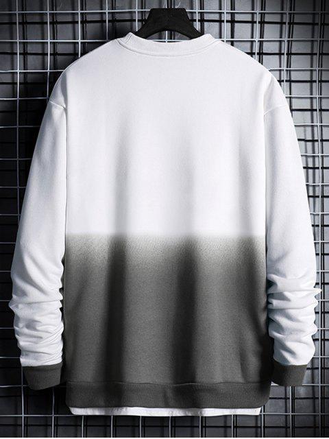 Sudadera con Estampada de Letras Degradadas - Blanco M Mobile