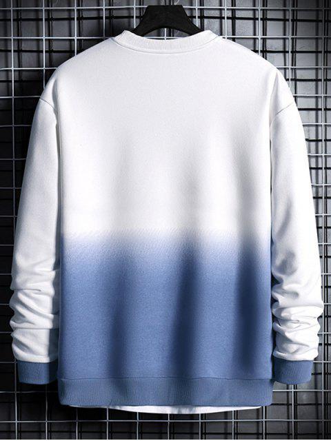 信打印Ombre的運動衫 - 絲藍色 XL Mobile