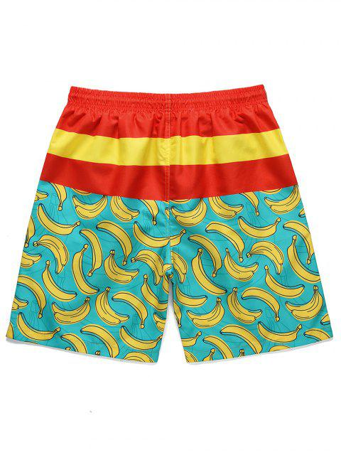 online Banana Printed Casual Board Shorts - MULTI M Mobile