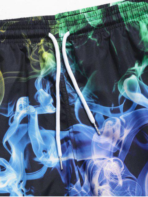hot Aurora Color Print Board Shorts - MULTI M Mobile