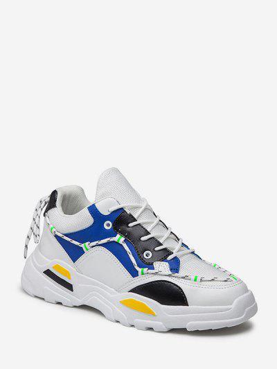 Zapatillas De Deporte Transpirable De Cordones De Color - Azul Eu 40