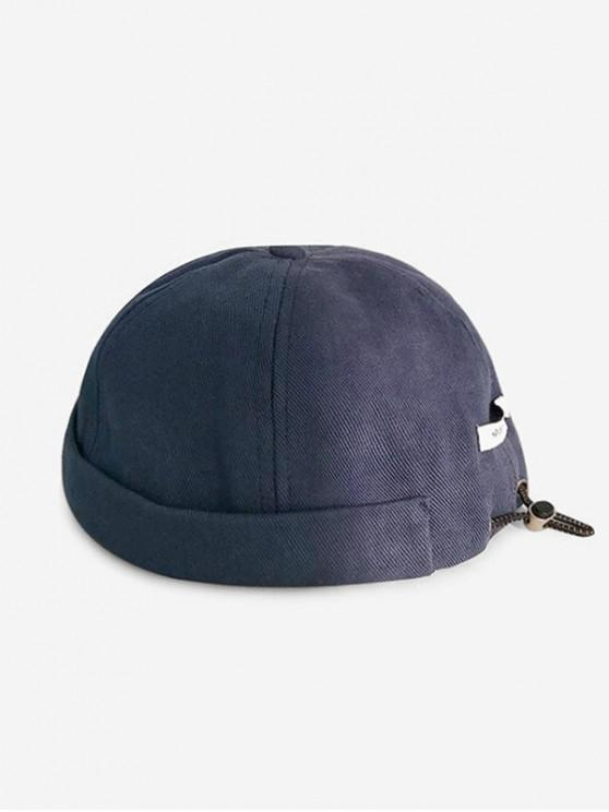latest Adjustable Drawstring Solid Skullcap Hat - CADETBLUE